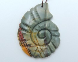 64.5ct On  Sale Natural Multi-Color Picasso Jasper Craved Pendant (18071404