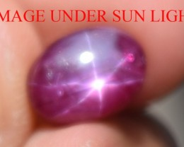 3.41 Ct Star Ruby CERTIFIED Beautiful Natural Unheated Untreated