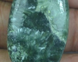 38.80 Ct Seraphinite Natural Untreated Cabochon x45-53