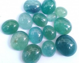 59.30ct Nice Color Grandidierite Cabochons 14 pcs