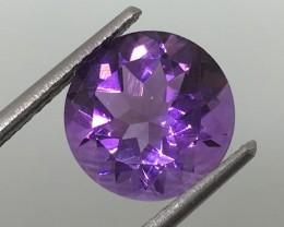3.30 Carat VVS Amethyst Brazilian Purple - Calibrated Beauty