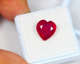 5.17Ct Natural Ruby Heart Cut Lot LZ839