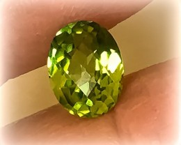 Exciting Desirable Checker cut Peridot Gem - Fabulous No reserve