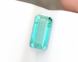 1.65 Ct Natural Blueish Green Transparent Tourmaline Ring Size Gem