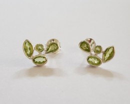 Peridot 925 Sterling silver Earrings #33401