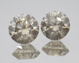 4.18cts Diamond Pair,  Untreated,  Certified
