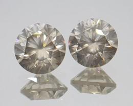 4.18cts Diamond Pair,  Untreated,  Certified