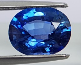 2.34cts,  Certified Sapphire,  Pure Blue,  Heat Only,