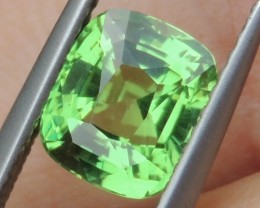 2.11cts, Certified Tsavorite,  Untreated,  Pure Green,