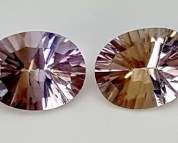 3.50Crt Fancy Ametrine Pair  Best Grade Gemstones JI77