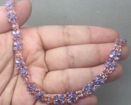 (B5) Wonderous Nat 59.0tcw. Top Nice Violet Blue Tanzanite Bracelet
