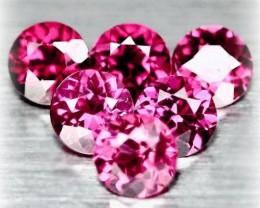 6 piece parcel of Rhodolite Garnet gems 4.5 - 4.6mm VVS