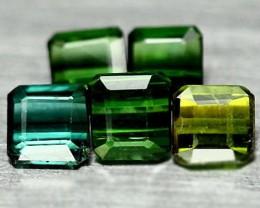 5 piece parcel of Tourmaline gems 1.74cts
