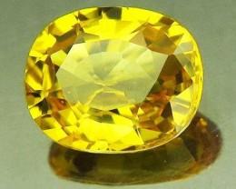 1.23ct Natural Yellow Sapphire VVS Gem