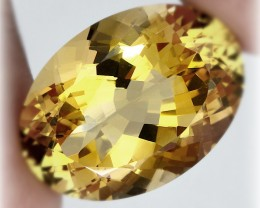21.50ct Stunning Citrine Oval Faceted Gem VVS Jewelry grade