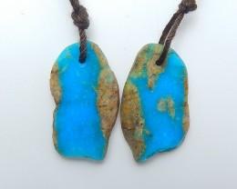 12.5ct Fashion Nugget Blue Opal Earring Pair(18071604)