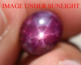 5.10 Ct Star Ruby CERTIFIED Beautiful Natural Unheated Untreated