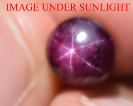 5.98 Ct Star Ruby CERTIFIED Beautiful Natural Unheated Untreated