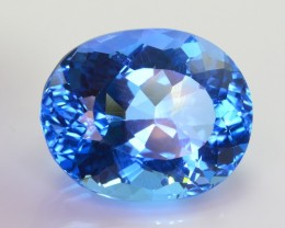 31 Ct Amazing Color Natural Blue Topaz ~ Swiss