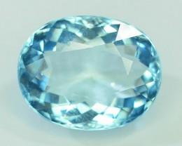 Gil Certified AAA Grade 7.03 ct Attractive Color  Aquamarine
