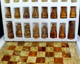 16900  CT Natural Onyx Carved Chess Board Special Shape