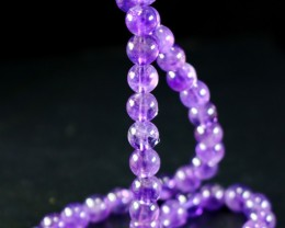 166 ct Unheated ~ Natural Purple color Amethyst Beads