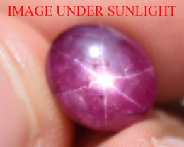 6.35 Ct Star Ruby CERTIFIED Beautiful Natural Unheated Untreated