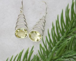 NATURAL UNTREATED PERIDOT EARRINGS 925 STERLING SILVER JE409