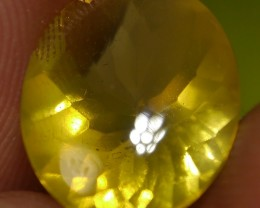 2.55 CT UNTREATED YELLOW CLEAR FIRE INDONESIAN FACETED OPAL