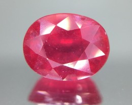 3.10 Crt Ruby Glass Filled Faceted Gemstone (R 204)