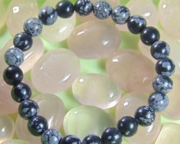 Natural Snowflake Obsidian 8 mm Bracelet 87.85