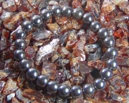Hematite Stone Bracelet 8 mm 142.30 cts