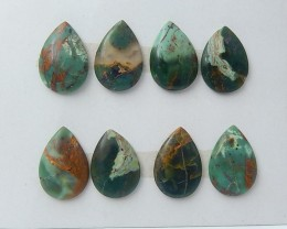 86.5ct 8Pcs Special Offer Natural Green Opal Cabochon (18071703)