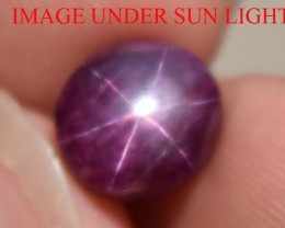 4.10 Ct Star Ruby CERTIFIED Beautiful Natural Unheated Untreated