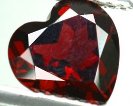 2.19 Cts Natural Pinkish Red Garnet Cute Heart African Gem
