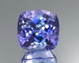 3.17 Cts  Tanzanite  Awesome Color & Cut Faceted Gemstone 1