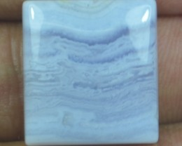 19.40 CT BLUE LACE AGATE  BEAUTIFUL NATURAL CABOCHON x17-105