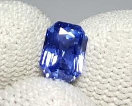 CERTIFIED 1.12 CTS NATURAL BEAUTIFUL CORNFLOWER BLUE SAPPHIRE CEYLON SRI LA