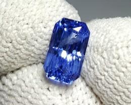 CERTIFIED 1.20 CTS NATURAL BEAUTIFUL CORNFLOWER BLUE SAPPHIRE CEYLON SRI LA