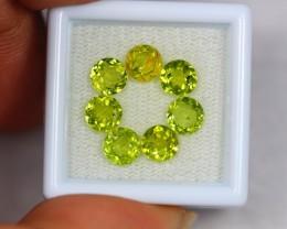 4.69ct Natural Green Peridot Round Cut Lot GW1835
