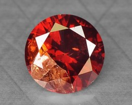 0.15 Cts Natural Fancy Red Diamond Round Africa