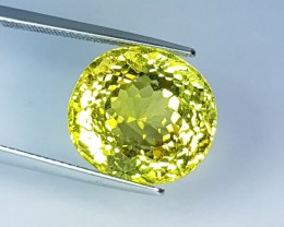 "19.48 ct ""IGI Certified"" Lovely Yellow Oval Cut Natural Quartz"