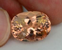 AAA Grade 9.88 ct Peach Morganite Brazil SkU 3