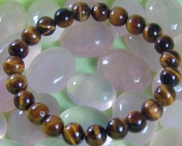 Tiger eye Natural Stone  bracelet 8 mm