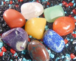 NATURAL MULTI COLOR  Tumbled Stones