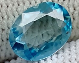 1.65CT BLUE ZIRCON   BEST QUALITY GEMSTONE IGC476