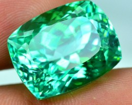 No-Reserve 21.00 cts Cushion Cut Lush Green Spodumene Gemstone From Afghani