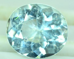 No Reserve - 3.90 cts Natural Untreated Aquamarine Gemstone From Pakistan
