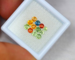 1.86ct Natural Fancy Color Sapphire Round Cut Lot V1792