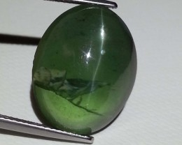 22.89 ct Rare Amazing Oval Cut Natural Apatite Cat's Eye